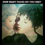 いくつの顔が見えますか?