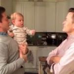 双子のパパに戸惑う赤ちゃんが可愛すぎるw